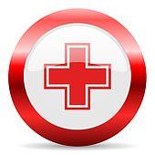 pharmacy glossy web icon