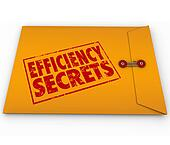 Efficiency Secrets Yellow Classified Envelope Confidential Tips