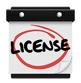 License Word Reminder Calendar Due Date Authorization Approval