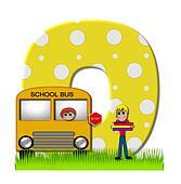 Alphabet First Day of School O