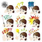 Female joy, anger, humor and pathos