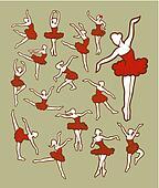 Dancer Icons Sketch Color