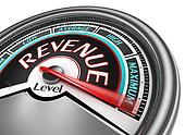 revenue level conceptual meter indicate maximum