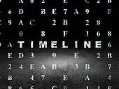Timeline concept: Timeline in grunge dark room