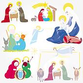 Illustration Christmas Christ