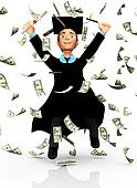 3D successful graduate