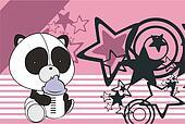 panda bear baby cartoon background