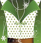 white-green background female fantasy