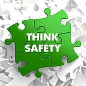 Think Safety on Green Puzzle.