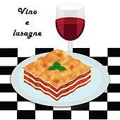 Lasagne e vino