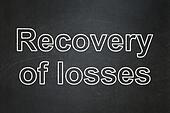 Banking concept: Recovery Of losses on chalkboard background