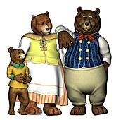 Well dressed bears
