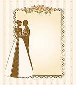 bride and groom's silhouette