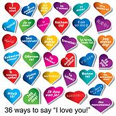 "36 ways to say ""I love You"""