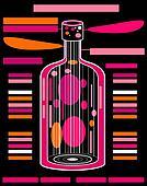 vector alcohol pink bottle design