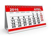 Calendar April 2016.