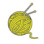 Ball Of Yarn Clip Art - Royalty Free - GoGraph
