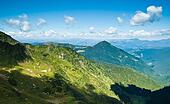 Carpathian mountains in Ukraine: landscape