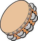 Tambourine Clip Art - Royalty Free - GoGraph