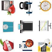 Vector fitness icon set