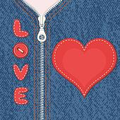 Jacket with zipper and heart