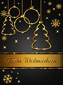 Frohe Weihnachten, elegant und edel