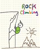 Rock Climbing Clip Art - Royalty Free - GoGraph