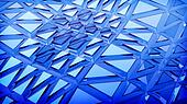 blue 3d abstraction background