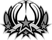 Basketball Ball Vector Graphic Temp