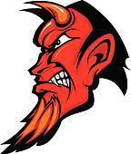 Devil Mascot Vector Profile with Ho