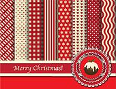 Christmas scrapbooking red and cream