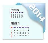 2014 March calendar