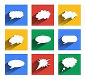 Modern speech bubbles se