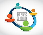 the power of sharing team illustration