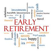 Early Retirement Word Cloud Concept