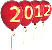 New 2012 Year balloons decoration