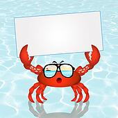 Crab with card