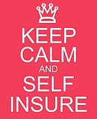 Keep Calm and Self Insure red sign