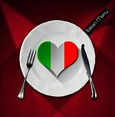 Healthy Italian Food - Restaurant Menu Design