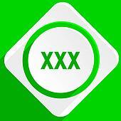 xxx green flat icon