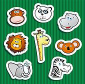 jungle stickers