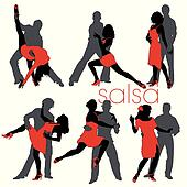 Salsa dancers silhouettes set