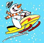 Snowmobile man