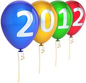 Happy New 2012 Year party balloons