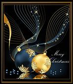 Christmas background gold and blue