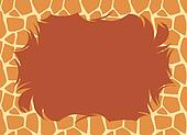 Giraffe Fur Border
