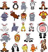 Cute Christmas Animal Set