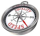 quality vs speed concept compas