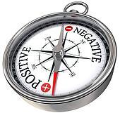 positive negative concept compass