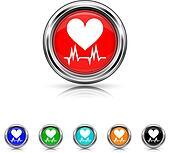 Heart  icon - six colours set